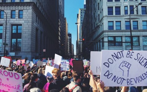 Women and supporters march on Trump