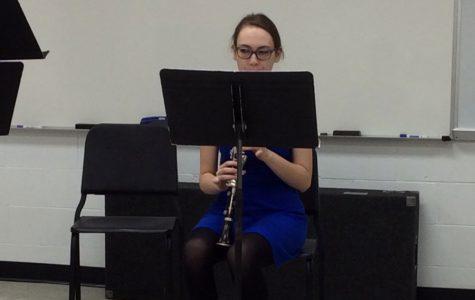 Zoe Vukelich perfecting the clarinet