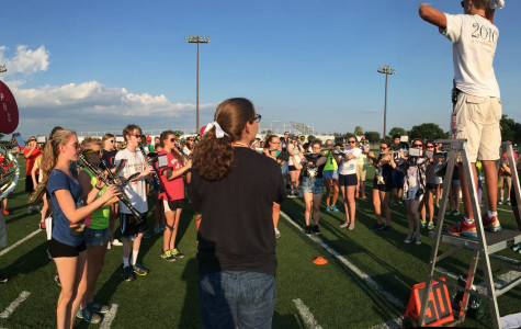 The PHS marching band  gears up for another season