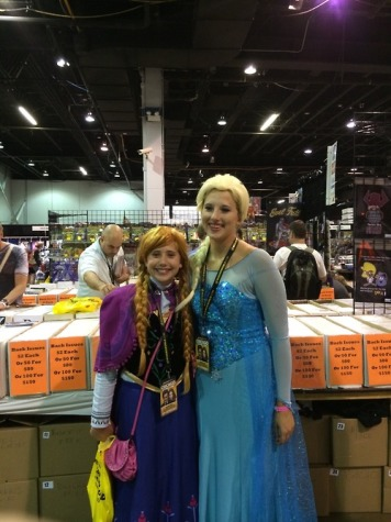 "My sister and I cosplaying as Anna and Elsa from Disney's ""Frozen."""