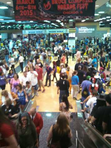 This is only a picture of the lobby; the show floor had five times as many people walking around!