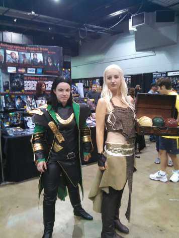 "Although an odd pairing, both cosplays of Daenerys from ""Game of Thrones"" and Loki from the Marvel universe look great."