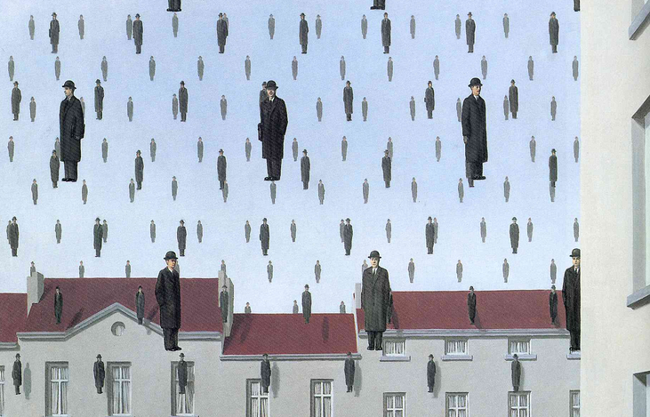 %22Golconda%22+by+Magritte+displays+the+artist%27s+fondness+for+surrealism.