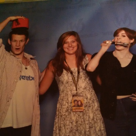 Me with Matt Smith and Karen Gillan. The two actors met with several fans over the course of the convention for fun photo ops.