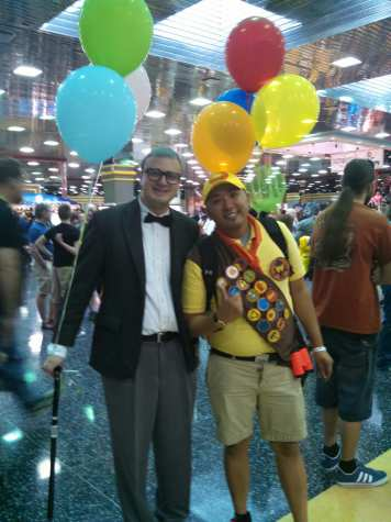 "Complete with balloons, Mr. Fredricksen and Kevin from ""Up"" may have been the cutest cosplay at the convention."