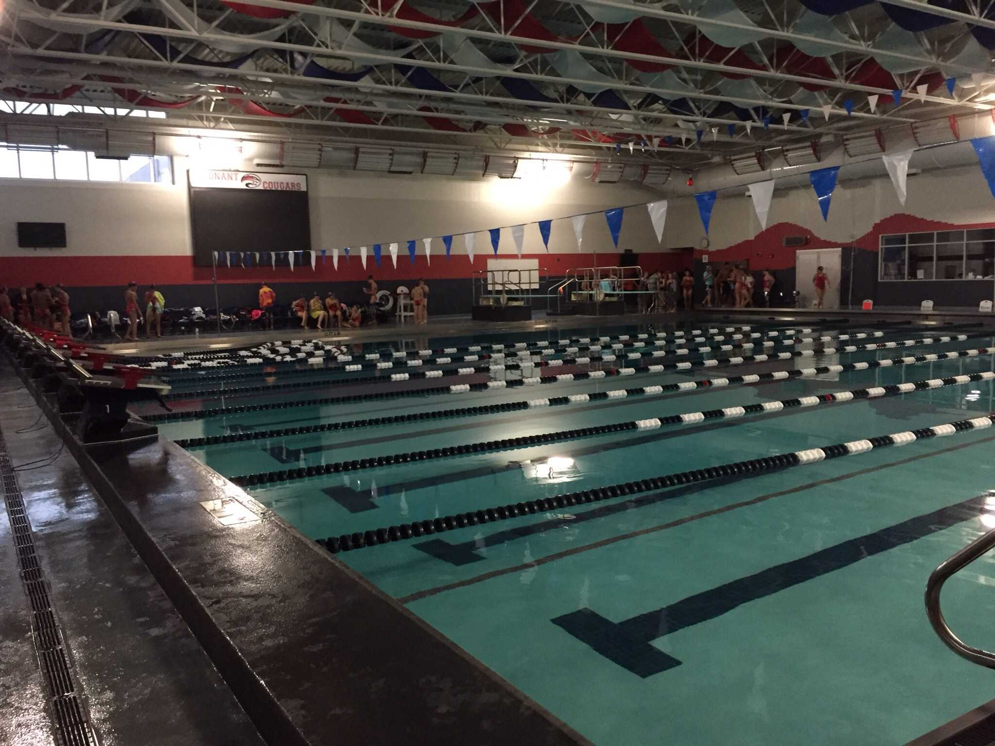 Conant's newly renovated pool features eight competition lanes and high class starting blocks.