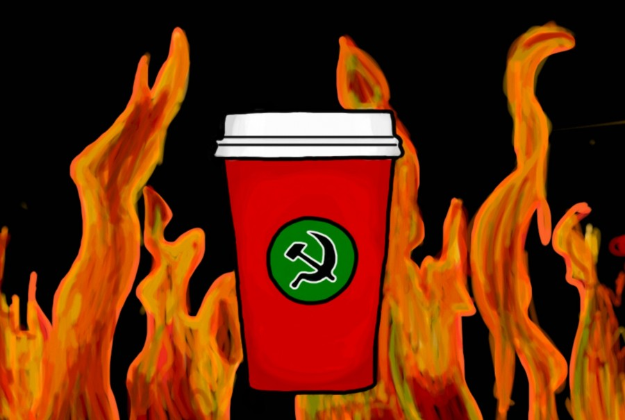 While not explicit, the message that Starbucks implies with their new design inspires Communist, Anti-Christian revolution.