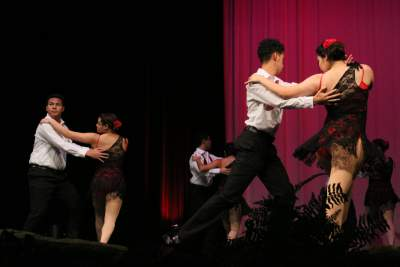 Latin Dance Crew performing at the Palatine High School Dance Show. They performed a Tango piece.
