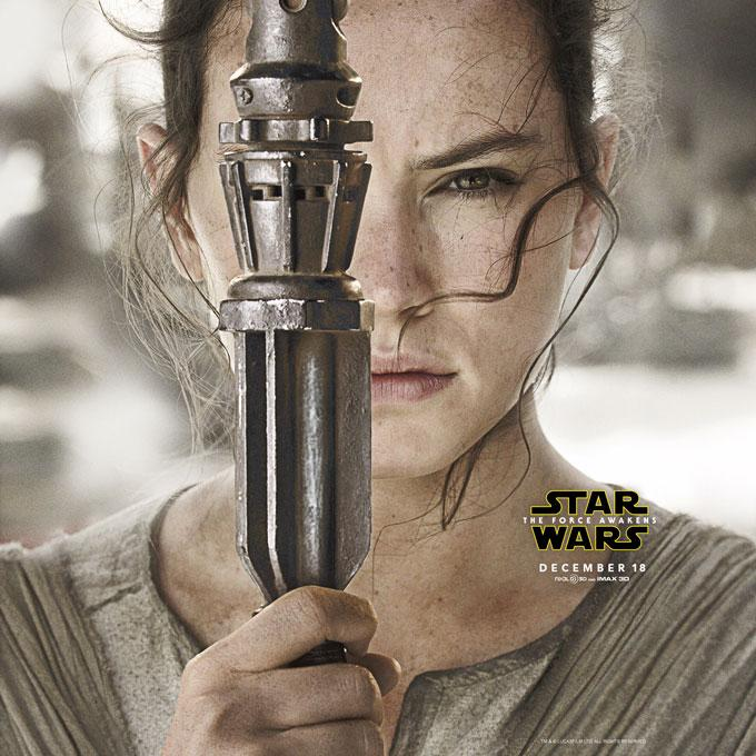 Daisy Ridley as Rey is one of the bright new stars in the movie.