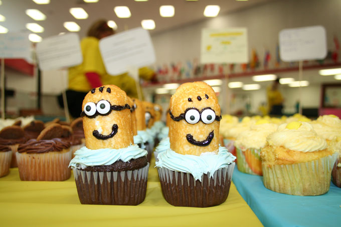 Cupcakes+for+a+Cause+from+2014.+Twinkie+minion+cupcakes+were+the+star+of+the+event.