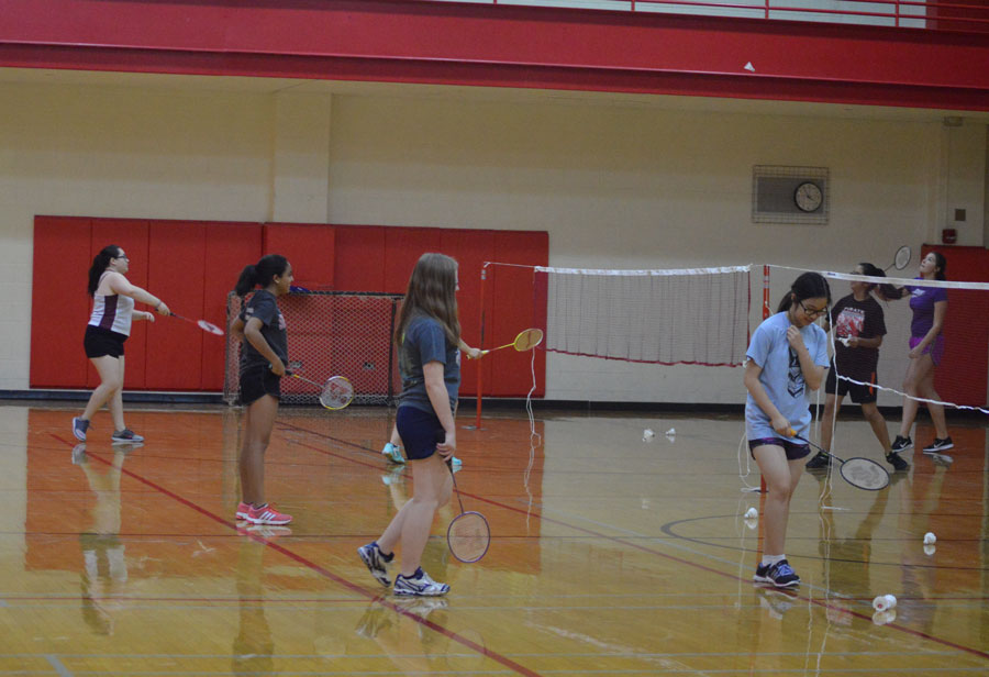 Intramural badminton is in the main gym on Sept 20, 26, and 29 and Oct 13, 18, 20, and 24