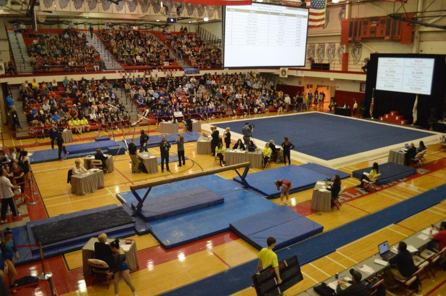 Girls gymnastics end with great form