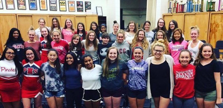 Some of the many choir students who are performing at Friday's concert.