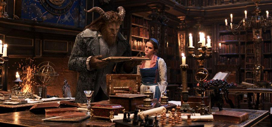 Dan Stevens and Emma Watson play the title characters in Disney's live action Beauty and the Beast.