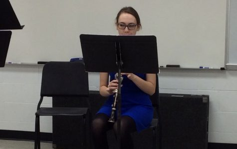 Zoe Vukelich perfecting the clarinet