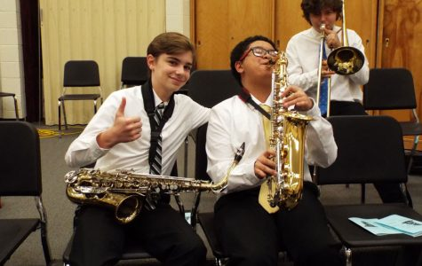 Slideshow: Backstage at the Winter Band Concert