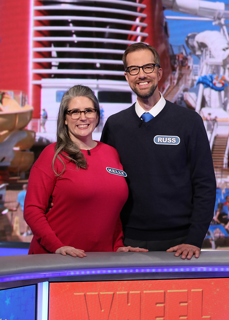 Kelly and Russell Horvath on Wheel of Fortune.