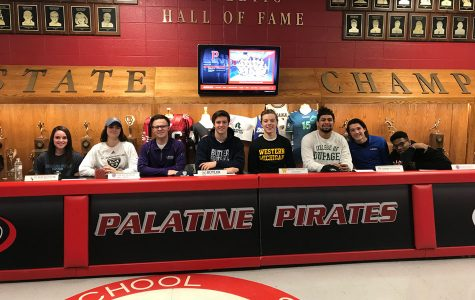 Seven seniors sign letters of intent today.