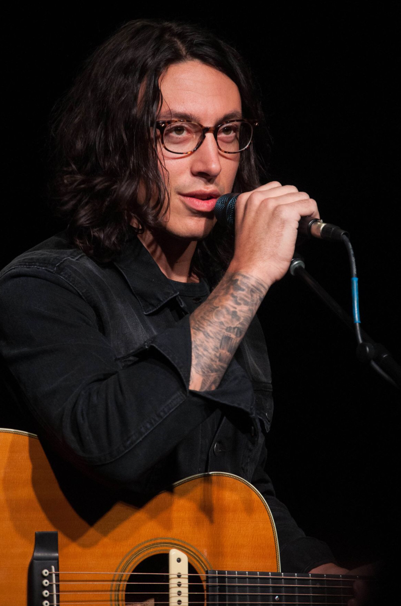 Noah Gundersen, vocalist for Young in the City, performs at The Camp House in Chattanooga, Tenn. in Jan. 2015