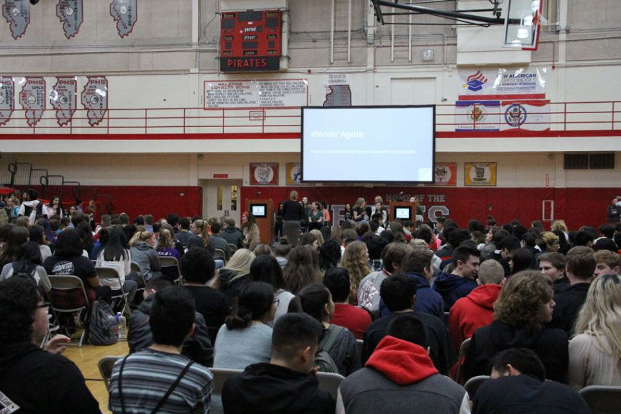 Students organize an assembly to discuss violence and guns in school.