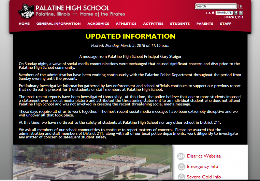 Screenshot+of+Palatine+High+School%27s+website+on+Monday.