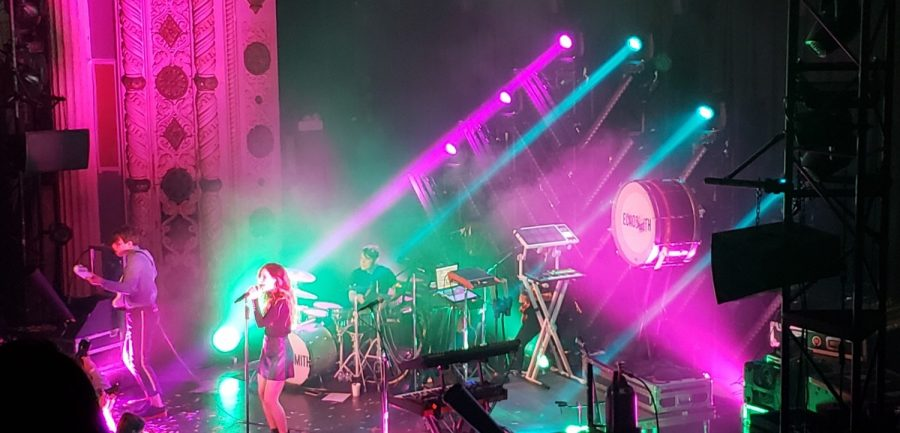 Echosmith headlined a concert at the Metro. Jena Rose and The Score opened for the trio.