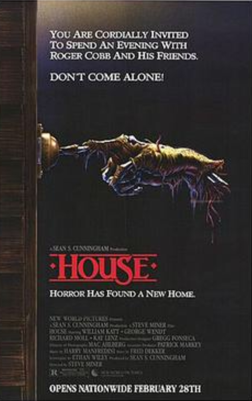 House theatrical poster as was displayed when the movie first came out