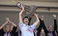 Chris Quick celebrates State Championship win for boys cross-country in 2011