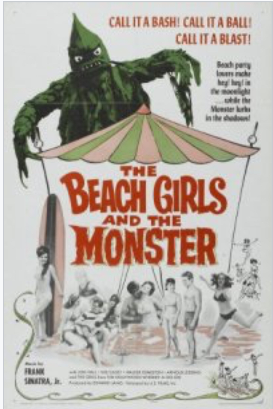 """The Beach Girls and the Monster"" movie poster is about as good as the movie itself"