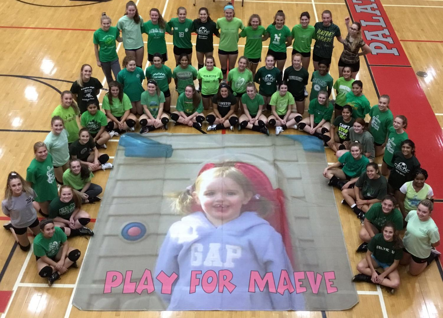 PHS volleyball showing their support before game day.