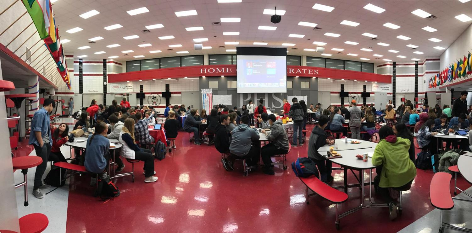Over 100 Palatine High School students attend the midterm election watch party.