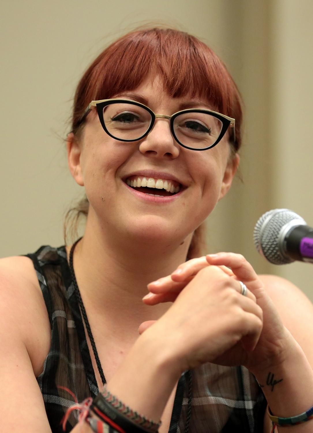 "Author of ""A Darker Shade of Magic,"" V.E. Schwab, at 2018 Phoenix Comic Fest."