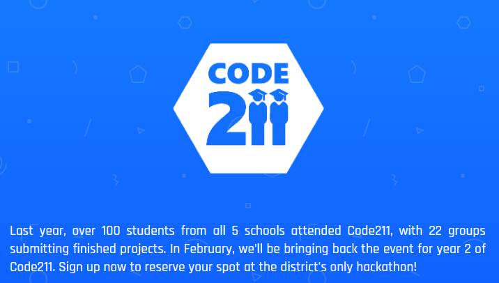 Code 211 offers 11 workshops and is completely free to D211 students.