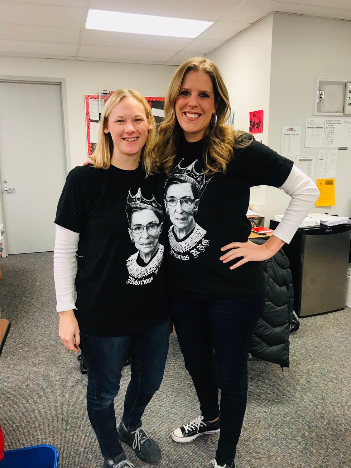 Leslie Schock and Emily Hamman are definitely Palatine's biggest RBG fans.