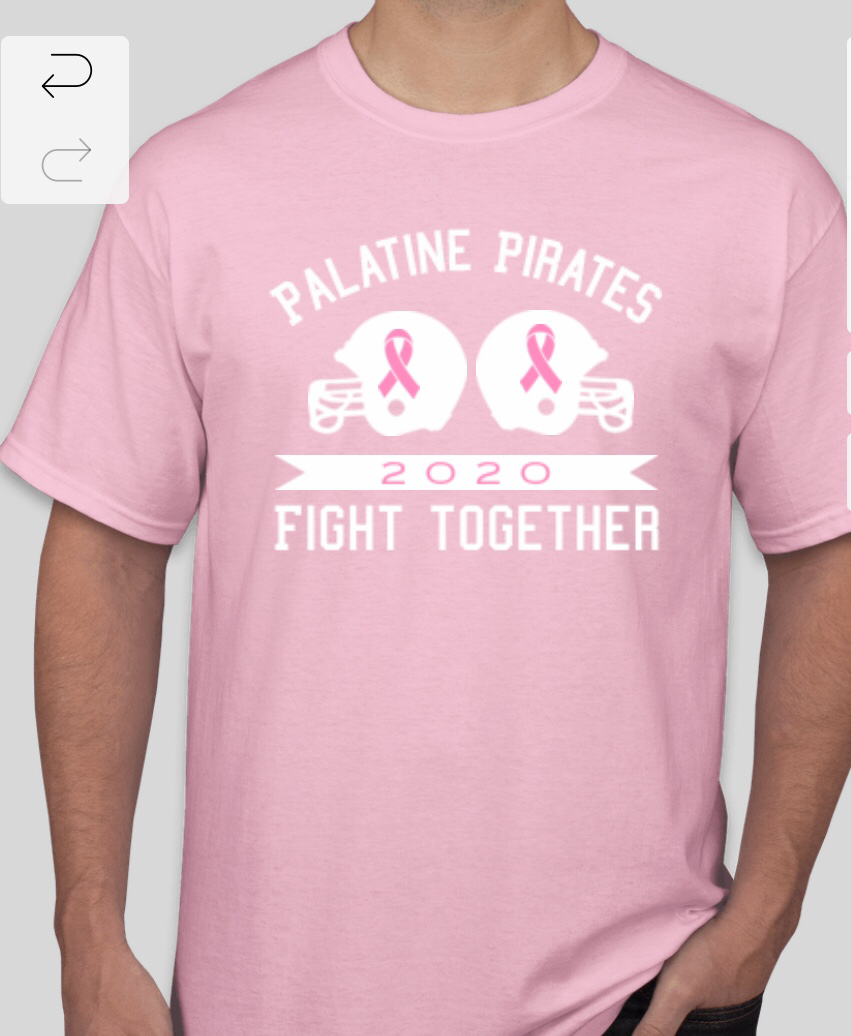 T-shirts that service club will be selling to raise money for the American Cancer Society.