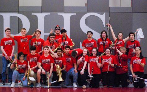 Slideshow: PHS band seniors recognized at basketball's Seniors night