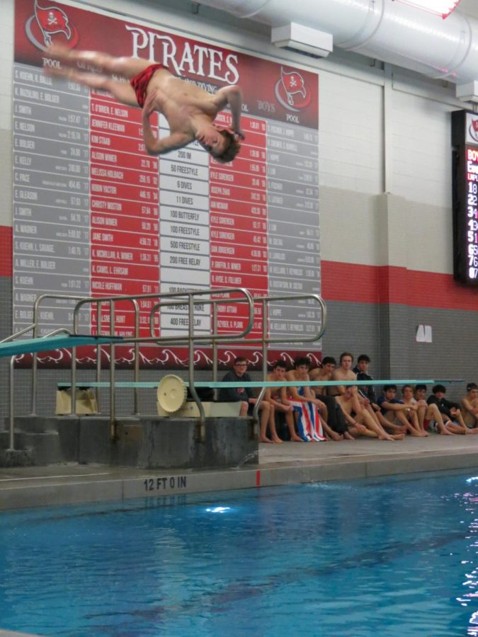 Divers showcased many skills during the diving portion against BHS.