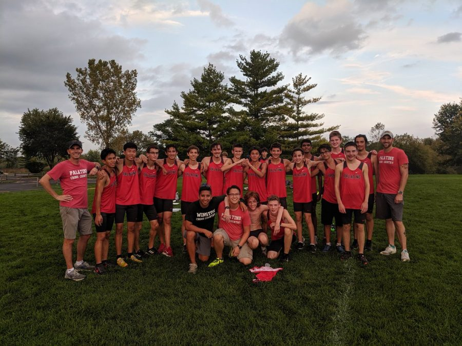 Cross Country boys after winning MSL Championship title.