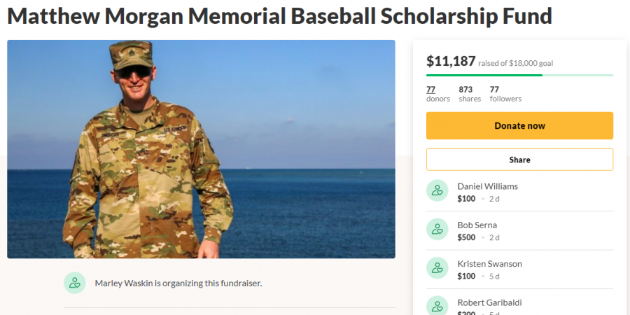 This GoFundMe page seeks to raise money for a scholarship for PHS baseball players.