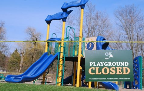 """""""Park Closed"""" signs and caution tape were plastered all over Palatine and its parks."""