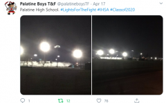 Schools across Illinois lit up their football fields from 8 to 8:20pm to honor student athletes.