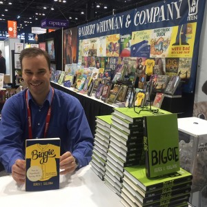 "Derek E. Sullivan at a book signing for his book ""Biggie"" at Book Expo America."