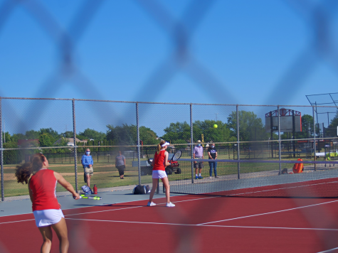 Girls tennis takes on Niles North