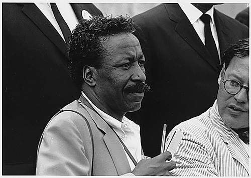 Gordon Parks attends 1963 March on Washington.
