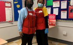 PHS senior Sophia Ezunu, who works 28-33hrs/week, with Deborah Andrew at HomeGoods.