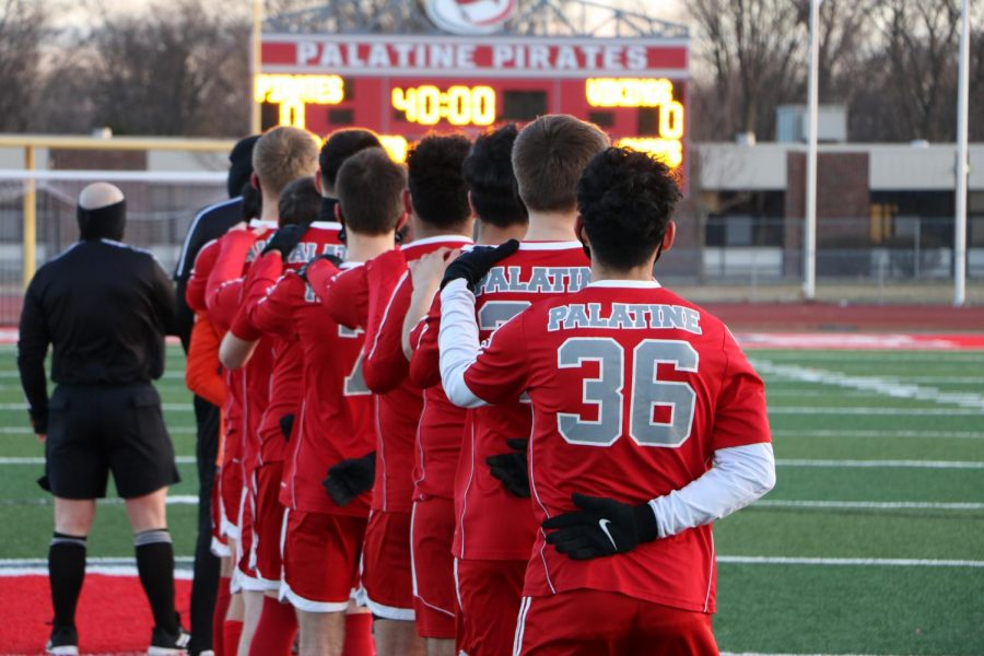 The PHS Pirates played a tough with the RMHS Mustangs, with a Pirate defeat of 1-2. This photo is from the 2020 varsity soccer season.